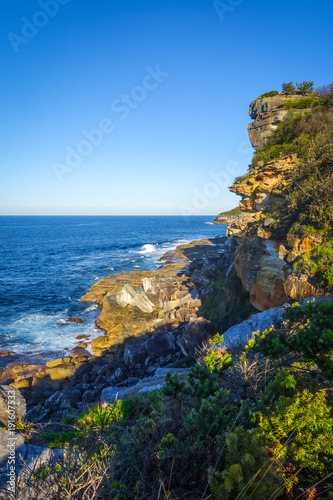 Fotobehang Sydney Manly Beach coastal cliffs, Sydney, Australia