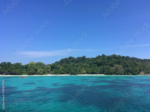 Foto op Canvas Tropical strand sea
