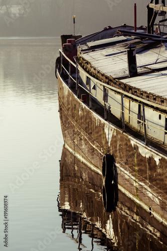 Poster Schip Altes Schiff mit Fender