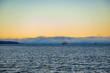 Scenic sunset view of the Strait of Georgia in Nanaimo, British Columbia.