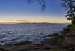 Scenic sunset view of the ocean from Roberts Memorial Park in Nanaimo, British Columbia.