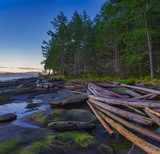 Scenic sunset view of the ocean from Roberts Memorial Park in Nanaimo, British Columbia. - 191609783