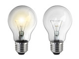 Light bulb, isolated, on white background - 191609925