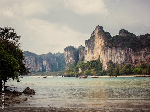 Fotobehang Thailand The beautiful view in island Railay Krabi.
