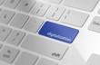 Blue digitalization button on keyboard.