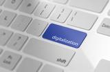 Blue digitalization button on keyboard. - 191611579