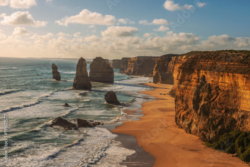 Sunset over The Twelve Apostles  in Victoria, Australia