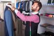Salesman is creating business image