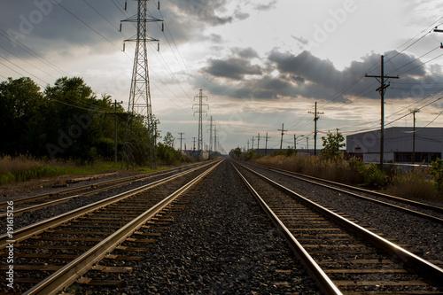 Papiers peints Voies ferrées Empty Railroad