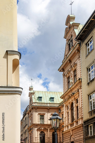 antique building view in Krakow, Poland © ilolab