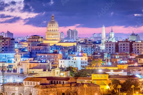 Foto op Canvas Havana Havana, Cuba downtown skyline.