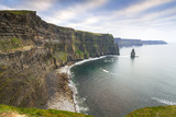 Cliffs of Moher in Ireland at cloudy day, Co. Clare - 191631985