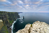 Cliffs of Moher in Ireland at cloudy day, Co. Clare - 191632534