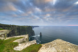 Cliffs of Moher in Ireland at cloudy day, Co. Clare - 191632558