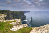 Cliffs of Moher in Ireland at cloudy day, Co. Clare - 191632598