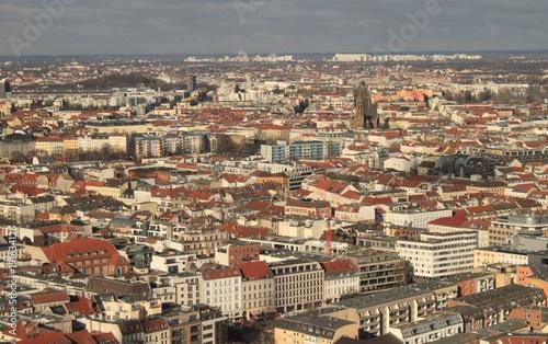 Fotobehang Berlijn Berliner Häusermeer / Blick über das Scheunenviertel nach Norden
