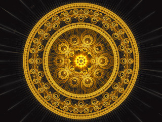 Fractal mandala - abstract digitally generated image