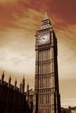 Close up of Big Ben Clock Tower - 191650355
