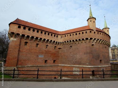 Aluminium Krakau Krakowski Barbakan - średniowieczna fortyfikacja obronna przed murami miasta