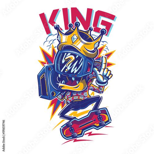 Wall mural KING