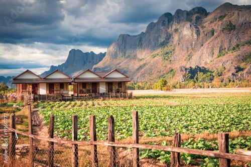 Fotobehang Zalm Kong Lor Lao - Thongdam Guesthouse