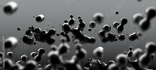 Fondo abstracto de liquido,tinta o petroleo flotando.Fisica de liquidos y ciencia © carloscastilla