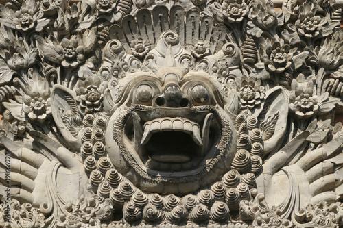 In de dag Bali Traditional rock sculpture in Bali