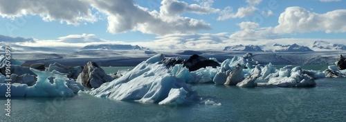 Papiers peints Photos panoramiques Islandia - lodowa laguna Jökulsárlón