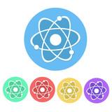 Set of Molecule Icon Button stock vector - 191679921