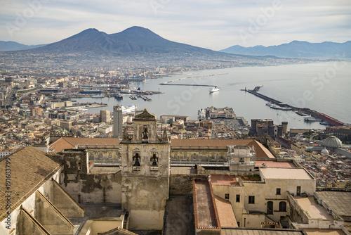 Plexiglas Napels View of Naples from Castle Sant Elmo