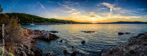 Papiers peints Photos panoramiques Beautiful landscape of Croatia, Croatia coast, sea and mountains. Panorama