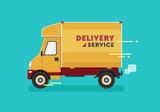 Delivery van. Vector illustration - 191695181