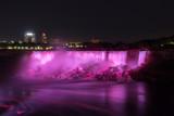 Niagara Falls at night in Ontario (Canada)