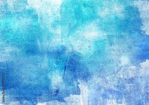Tło akwarela niebieski