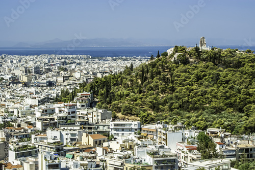 Fotobehang Athene Skyline of Athens, Greece from the Acropolis