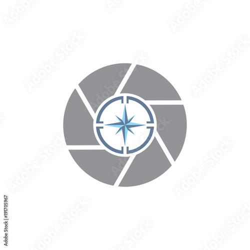 Compass Camera Logo Icon Design