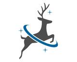 reindeer deer elk stag image vector icon logo silhouette 1