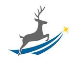 reindeer deer elk stag image vector icon logo silhouette - 191707746