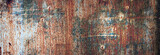 Fototapety rusty metal texture with flaking paint. panoramic background of old iron and rust