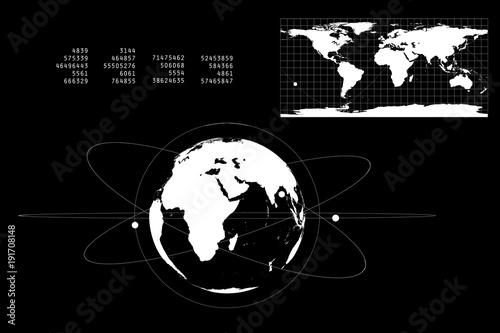 Fotobehang Wereldkaarten 世界地図とネットワーク