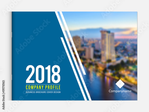 business brochure cover design template corporate company profile or
