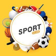 Sport Ball And Equipment   Sticker
