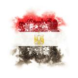 Square grunge flag of egypt - 191717384