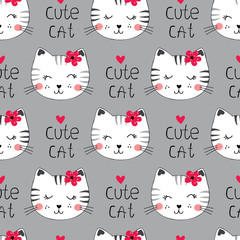 Seamless pattern with cute cats © annata78