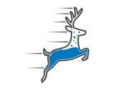 speed water reindeer deer elk stag image vector icon logo silhouette