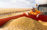 Farmer and soybeans - 191721326