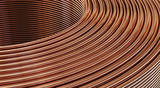 Closeup of copper wires. 3D Illustration   - 191721503