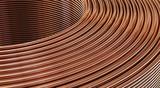 Closeup of copper wires. 3D Illustration   - 191721503