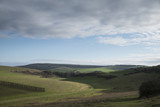 Stunning English countryside landscape across rolling green hills - 191723188