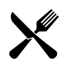 fork and knife, restaurant sign vector